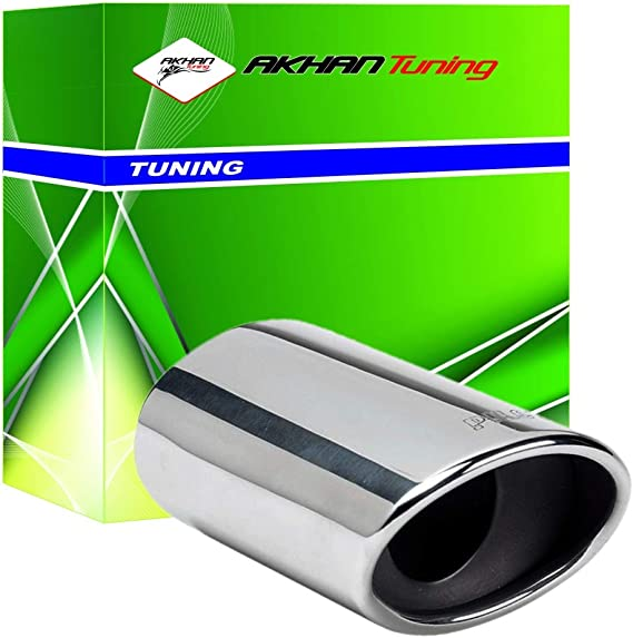 ER017 - Acero inoxidable de tubo de escape del tubo de escape de para atornillar Embellecedor de tubos de escape universales