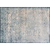 Loloi Rugs Anastasia Collection Area Rug, 3'7'' by 5'7'', Light Blue/Ivory