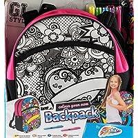 Colour Your Own Girls School Backpack Bag - Heart Design