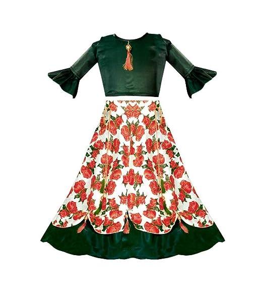 Buy Wonder Enterprise New Designer Party Wear Heavy Girls Lehenga Choli 4 5 Years Red At Amazon In