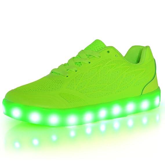 O&N LED Schuhe USB Aufladen Leuchtend Sport Schuhe Sneakers Leichtbau brillant Stil Schuhe für Damen Mädchen