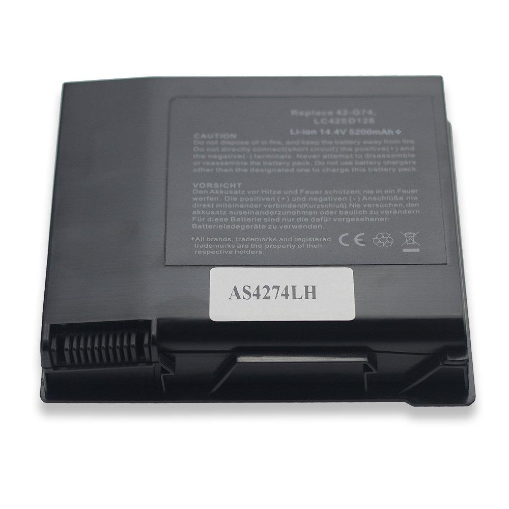 Bay Valle partes® Asus Li-Ion 8-cells 14,4 V 5200 mAh nuevo Batería de repuesto para portátil compatible con ASUS A42-G74 ICR18650 - 26 F LC42SD128: ...
