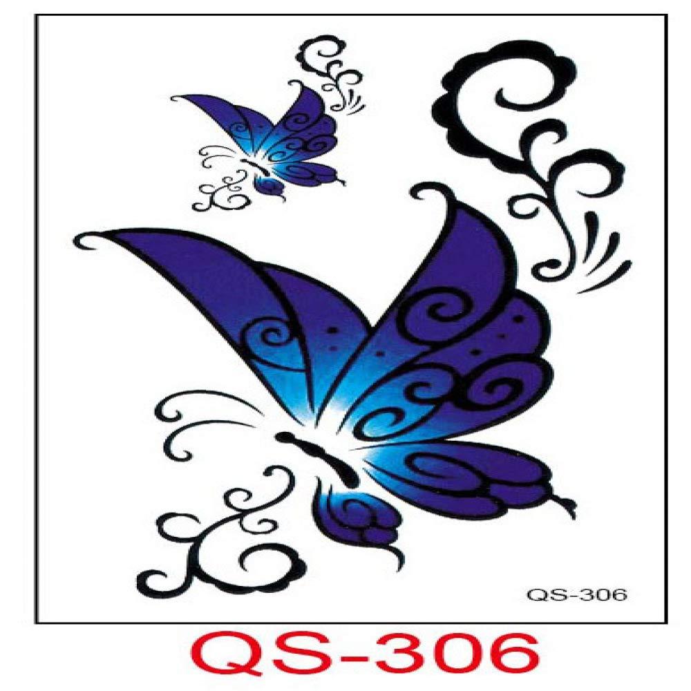 9 piezas pegatinas de tatuaje a prueba de agua lindas flores de ...