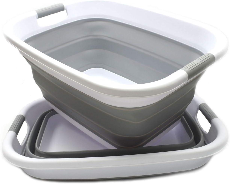Forro de tela extra/íble y lavable Canasta de almacenamiento de lavado M/&W Bolsa de lavado plegable 102L Cesto de ropa plegable Cesto de bamb/ú con separador de ropa