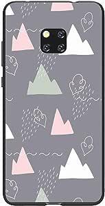اوكتيك كفر حماية غطاء جراب متوافق مع هواوي ميت 20 برو خلفية صلبة واطراف مرنه ممتص للصدمات - تصميم مطفي متعدد الألوان بواسطة اوكتيك