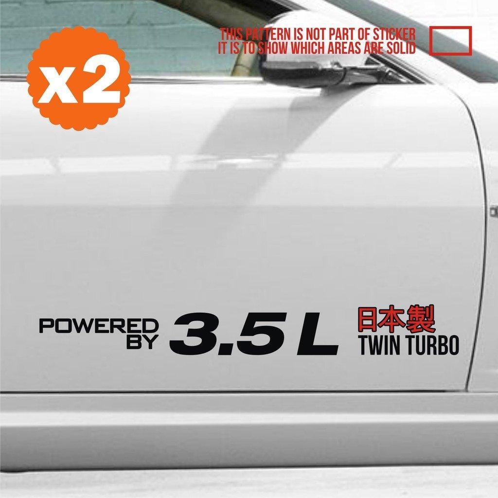 Car body door side sticker decal jdm euro 16 inch black hid drag rally stance fast drive zenki pedal drift legacy pilot wrx charger impreza sports japan