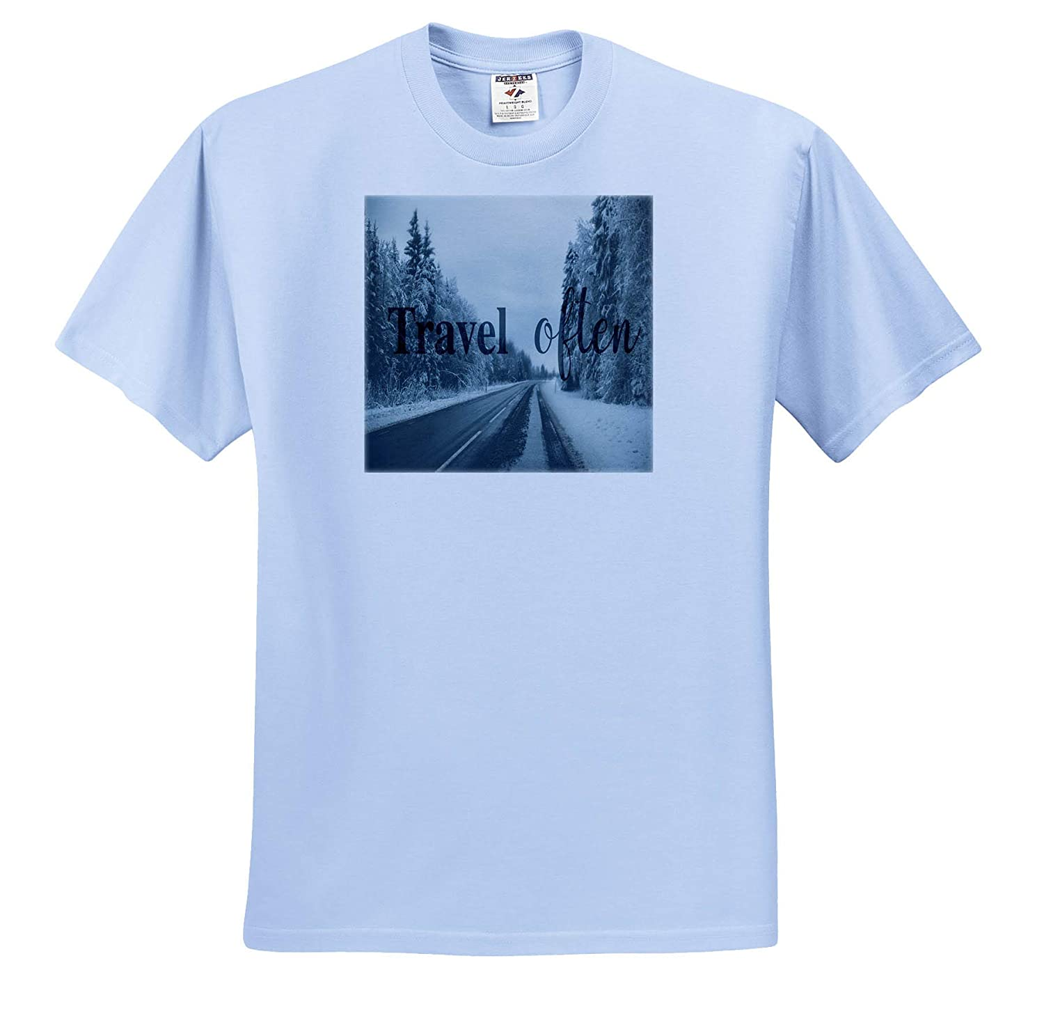 Photograph- Travel Often 3dRose Made in The Highlands Travel Often Affirmation with Road Trip Image T-Shirts