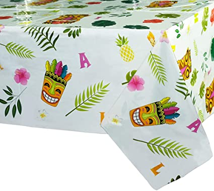 Tiki Blossoms Warm Pink Orange Tropical Luau Beach Pool Party Beverage Napkins