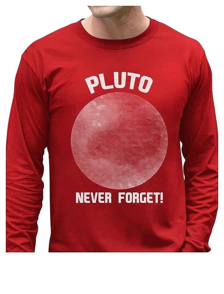 TeeStars - Pluto Never Forget Funny Long Sleeve T-Shirt GMPl0aPgC