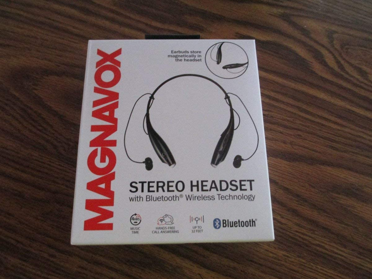 Amazon Com Magnavox Mbh513bk Black Stereo Headset With Bluetooth Computers Accessories