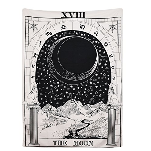 Tarot Tapestry The Moon The Star The Sun Tapestry Medieval Europe Divination Tapestry Wall Hanging Tapestries Mysterious Wall Tapestry Home Decor