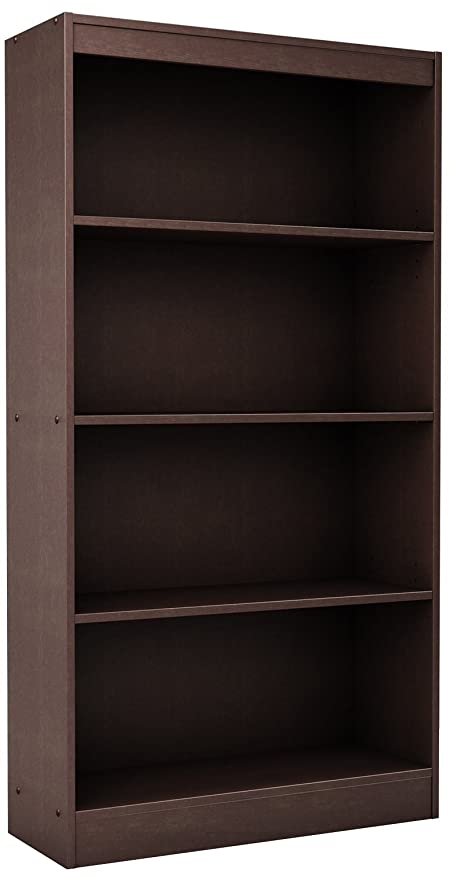 South Shore 4 Shelf Storage Bookcase, Chocolate
