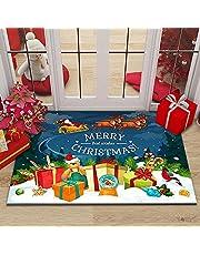 Christmas Indoor/Outdoor Doormat Decor Easy Clean Rubber Back Entry Way Doormat for Patio, Christmas Decorative Floor Mat for Front Door, All Weather Exterior Doors Xmas Decor