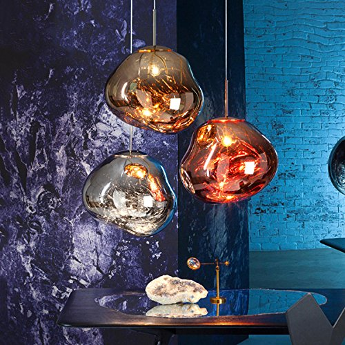 Large Copper Ball Pendant Light in US - 3