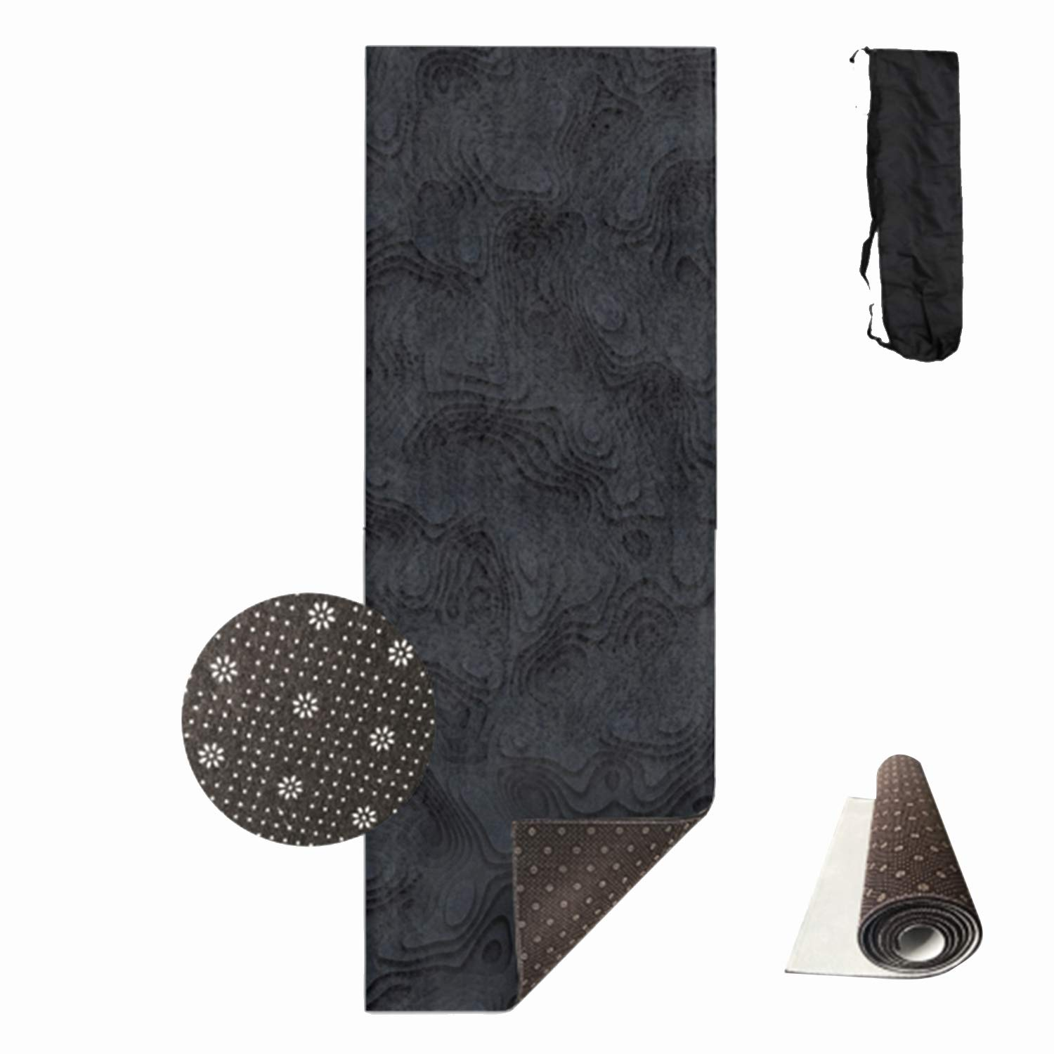 HHNYL Black Clouds Yoga Mats Luxuriously Soft, Printed, Non-Slip, Eco Friendly Yoga Mat