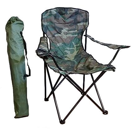 Amazon.com: Camuflaje silla compacta con bolsa de transporte ...