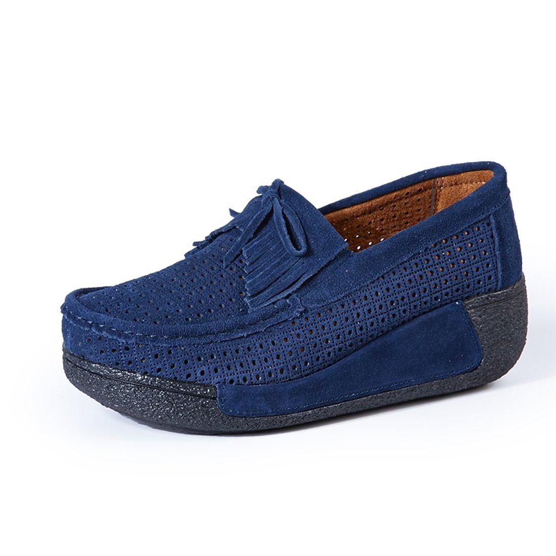 Z.SUO Mocassins Mocassins Femmes Suède 19993 Casuel Bleu.3 Confort Chaussures Loafers Bleu.3 459c6d1 - reprogrammed.space