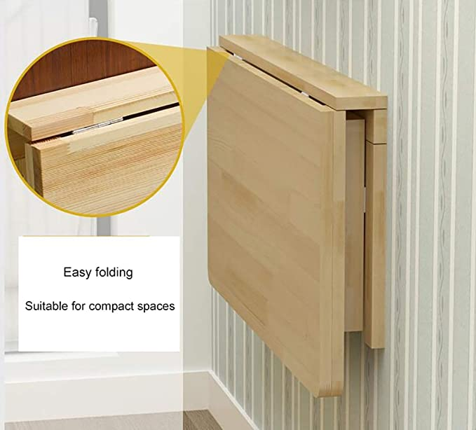 Amazon.com: Mesa plegable de pared con forma de hoja de gota ...
