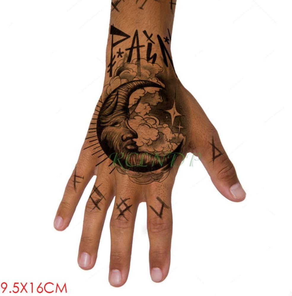 Handaxian 3 Piezas Etiqueta engomada del Tatuaje a Prueba de Agua Tatuaje de Calavera Tatuaje de Mano y pie Tatuaje Chica Hombre: Amazon.es: Hogar