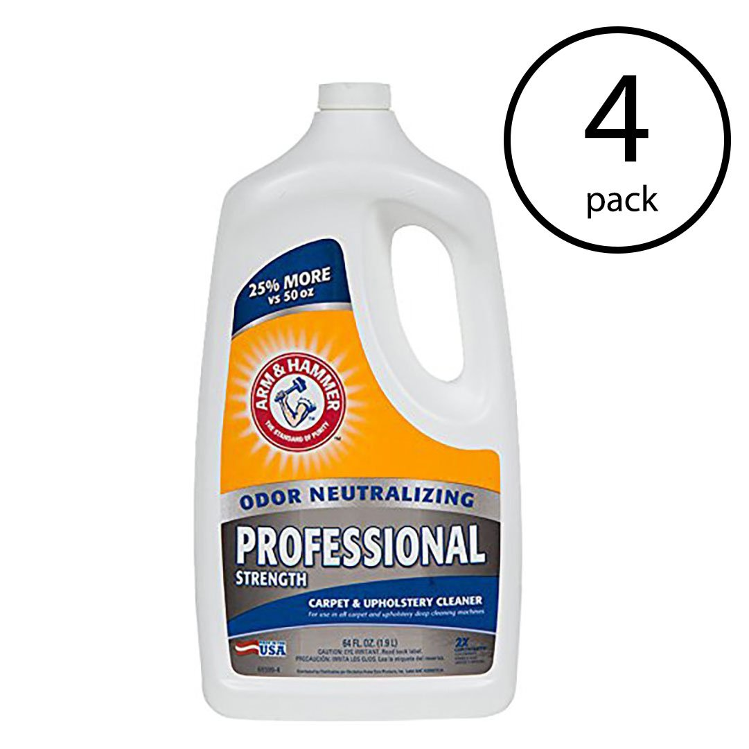 Arm & Hammer 64 Ounce Professional Strength Carpet Washer Extractor (4 Pack) by Arm & Hammer