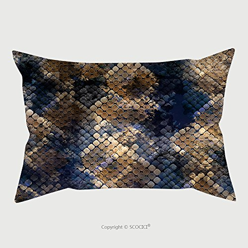 Custom Microfiber Pillowcase Protector Seamless Pattern Wild Design Snakeskin Background With Watercolor Effect Textile Print For Bed 585714911 Pillow Case Covers (Snakeskin Protector Case)