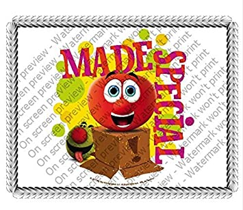 Swell 1 4 Sheet Veggie Tales Made Special Edible Image Cake Topper By A Personalised Birthday Cards Veneteletsinfo