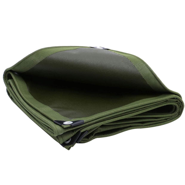 JLZS-Tarpaulin Dicker Segeltuch-Poncho-wasserdichter Sunscreen-Planen-LKW-Auto-Plane-Plane Plane-Schatten-im Freien Markise-Stoff (Farbe   Grün, größe   2  3m)