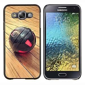 KLONGSHOP // Cubierta de piel con cierre a presión Shell trasero duro de goma Protección Caso - Metal Esfera - Samsung Galaxy E5 E500 //