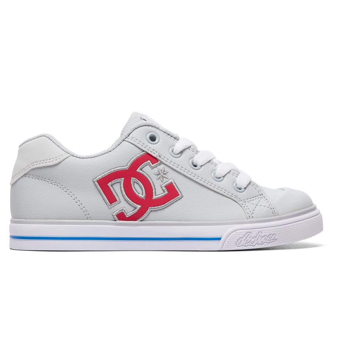 DC Shoes Girls Shoes Chelsea - Shoes - Girls 8-16 - US 12 - Grey Grey/Pink US 12 / UK 11 / EU 29