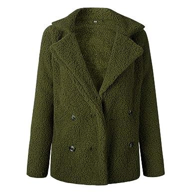 Baijiaye Damen Faux Für Mantel Plüschjacke Teddy Fleece