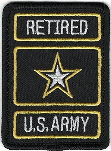Embroidery Patch Retired US Military United States Army of One Star 2