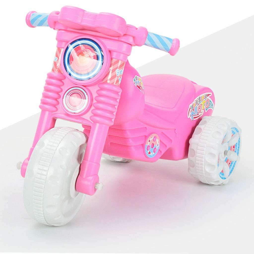 子供たちは車をねじる シャープコーナーデッドアングル全閉スクーター40度回転34cmホイールベースバランス車(64 * 34 * 43cm) (色 : ブラック) B07NX3QSB5 ピンク ピンク
