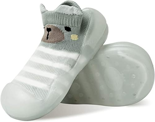 WEAPRIL Baby Toddler Sock Shoes Non-Skid Floor Slipper Baby Boy Girls Breathable Thick Indoor Outdoor Winter Warm Shoes Socks