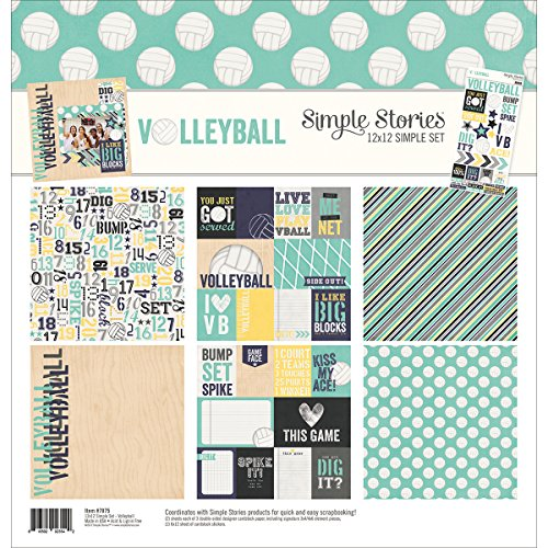Scrapbooking Volleyball - Simple Stories Volleyball 12x12 Collection Kit