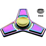 Mermaker Best FIDGET Spinner Toy for relieving ADHD, Anxiety, Boredom EDC Tri-Spinner Fidget Toy Smooth Surface Finish Ultra Durable Non-3D printed