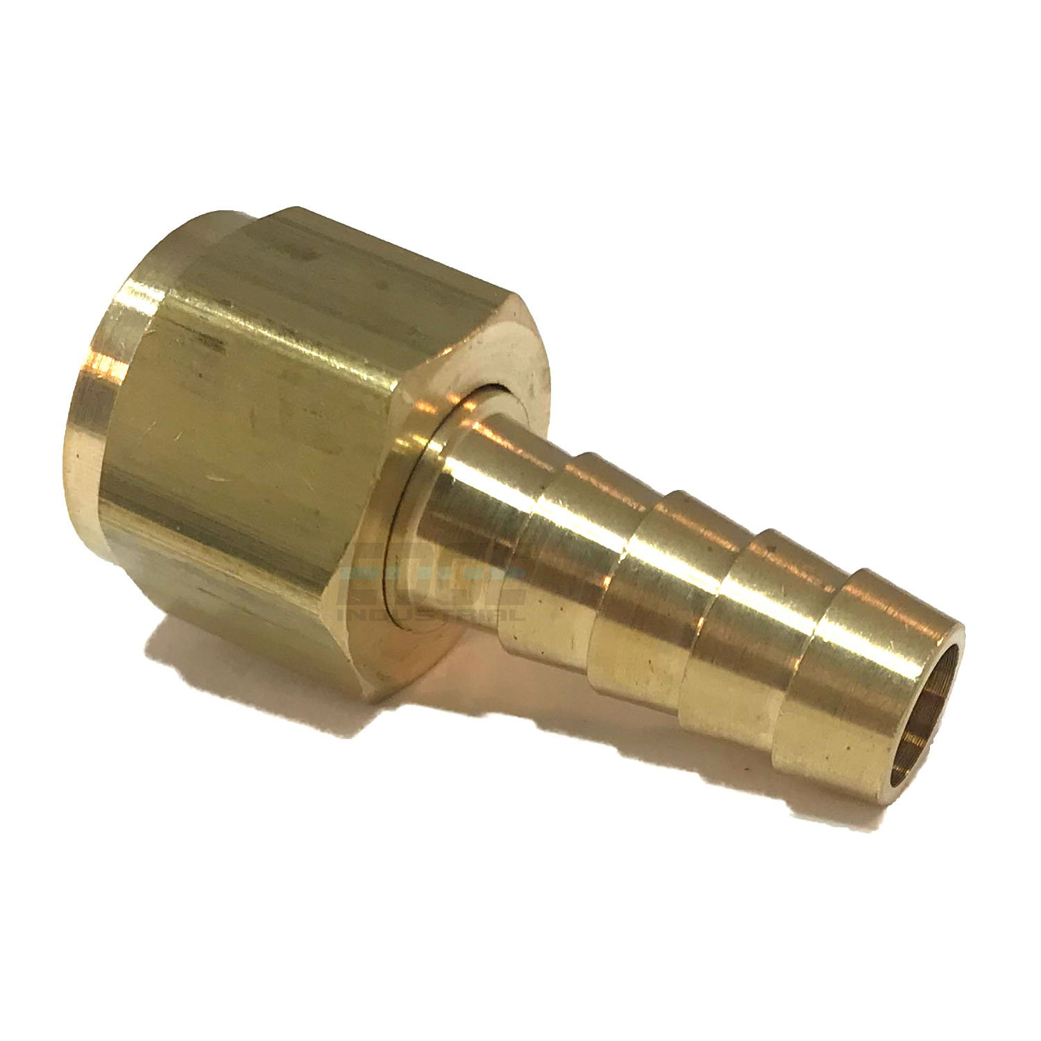 EDGE INDUSTRIAL 3//8 Hose ID to 3//8 Female NPSM Swivel Brass Adapter Fitting with Gasket//AIR Service ONLY