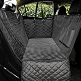 Honest Luxury Quilted Dog Car Seat Cover with Side Flap Pet Front&Backseat Cover for Cars, Trucks, and Suv's – Waterproof & Nonslip Diamond Pattern Dog Seat Cover(Door Protector)