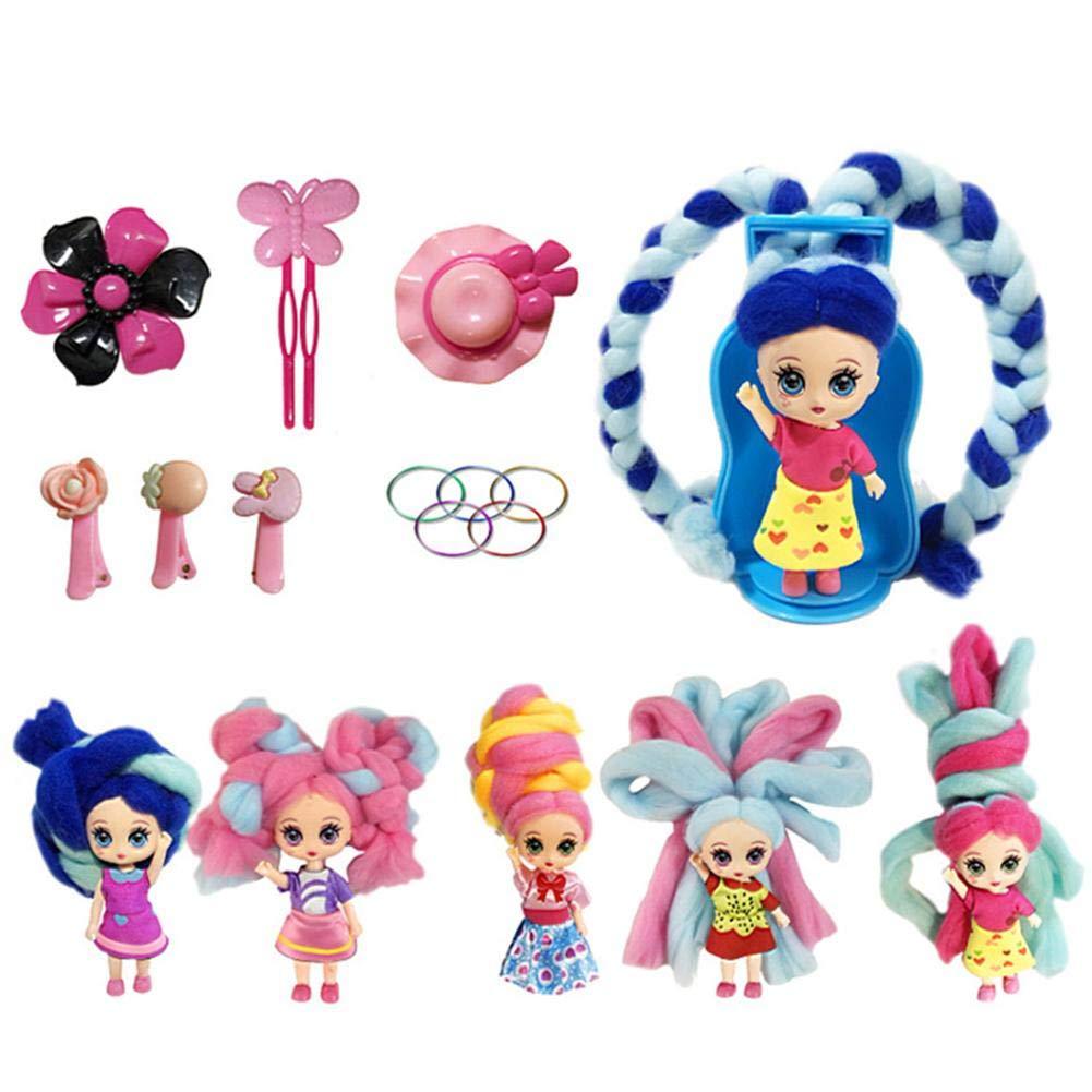 Rainnao Sorpresa Bambola|Bambola da Collezione|profumato 3 Pollici con Accessori Giocattolo Bambola Ragazza con Capelli Stile Marshmallow per Bambina