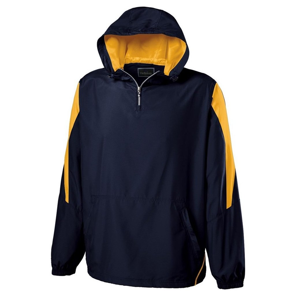 Holloway Youth Commence Swif-Tec Pullover (X-Large, Navy/Light Gold) by Holloway