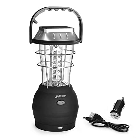 front facing agptek solar camping lantern