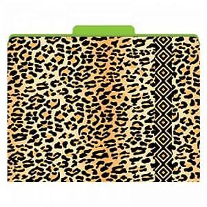 amazoncom leopard animal print functional file folders 12pkg office products