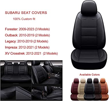 SUBARU OUTBACK Black Rear Waterproof Car Seat Cover Protector 2012-DATE