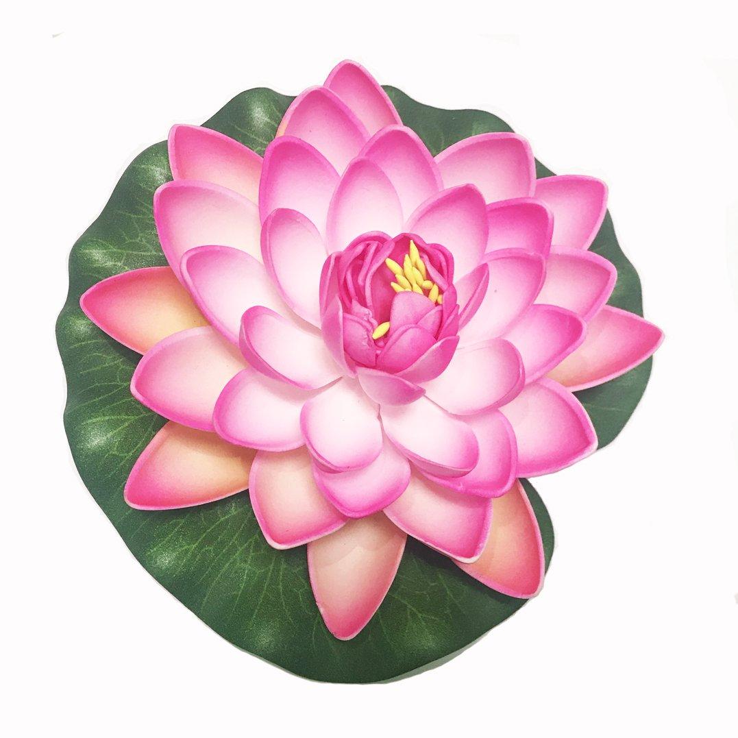 Amazon Emmix Artificial Water Lilies Foam Floating Lotus