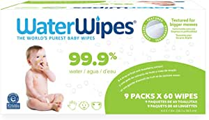 Waterwipes Hand Face Baby Wipes With Soapberry, 540 wipes (9 packs × 60 wipes)10.6 Pound