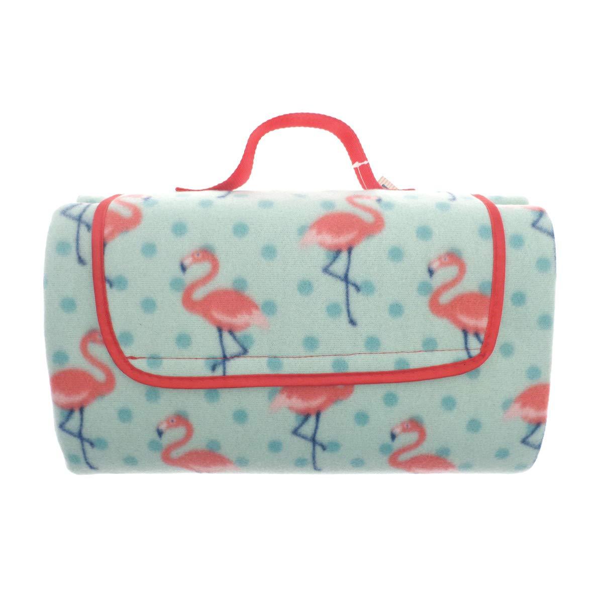 Al Fresco Waterproof Fleece Picnic Blanket Flamingo Beamfeature