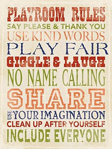 Playroom Rules by Stephanie Marrott Children Kids Room Print Poster 12x16