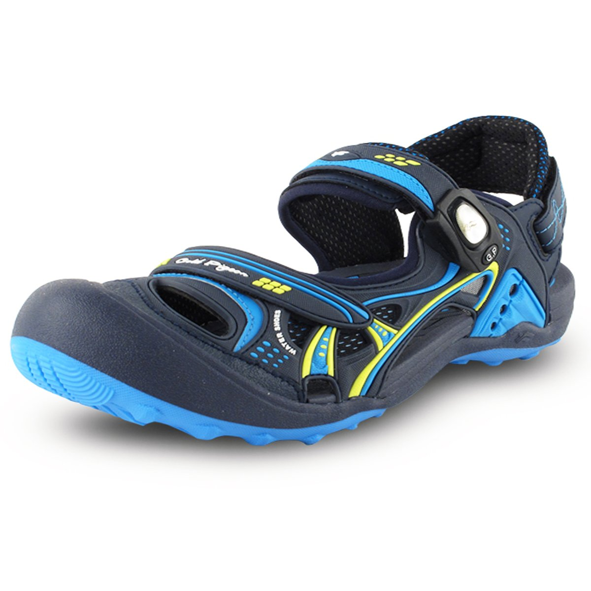 Gold Pigeon Shoes GP5937 Easy Snap Lock Closure Sports/Water Sandals for Men & Women B074VF2HP3 EU40: Women 9.5/10 & Men 8.5/9|7643 Black Blue