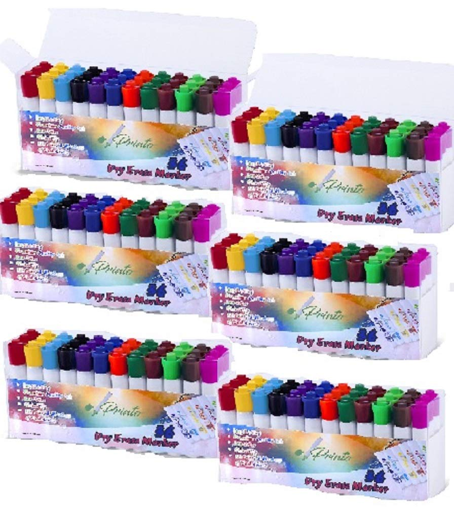 Dry Erase Whiteboard Marker, 12 Unique Colors, Chisel Tip, Low Odor,Vivid Lines (216 Count Jumbo Package)