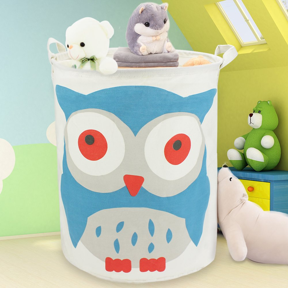 Delicieux Large Cotton Canvas Toy Storage Bin, Waterproof Fabric Laundry Bag, Hamper,  Collapsible Clothing Basket, Nursery Box For 1, 2, 3, 4, 5, 6 Year Old Kids  ...