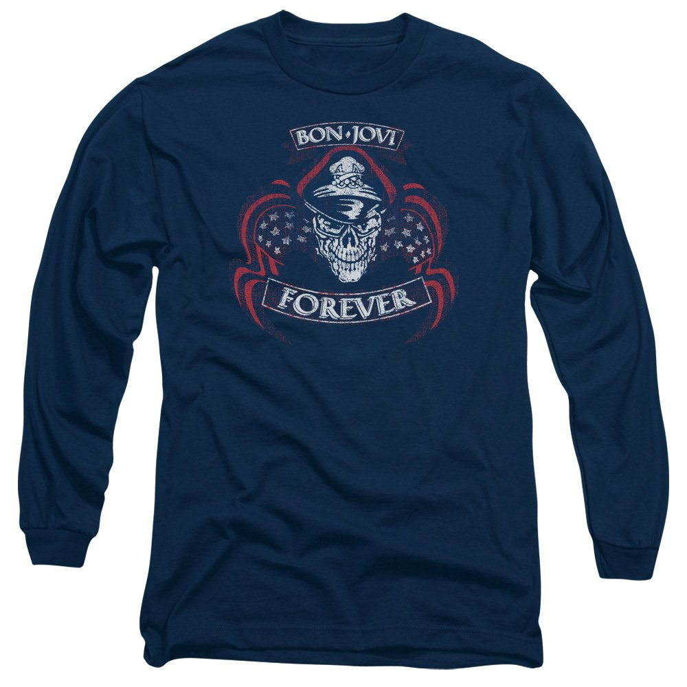 Bon Jovi Forever Cap Skull Adult T Shirt 6286